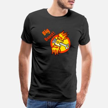 Boost Turbo Big Boost Car Turbo flames - Men's Premium T-Shirt