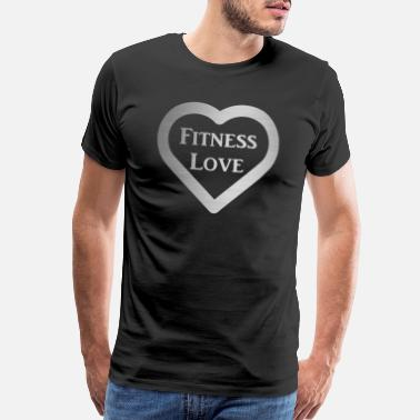 Squat Strong Man Fitness Love Heart - Men's Premium T-Shirt