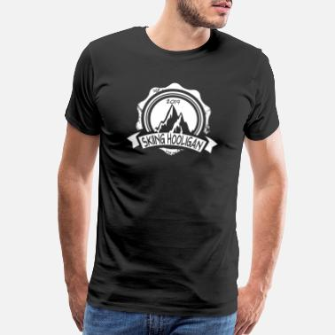 Love Mountains Clothing official skiing hooligan 2019 shirt, t-shirt, gift - Men's Premium T-Shirt