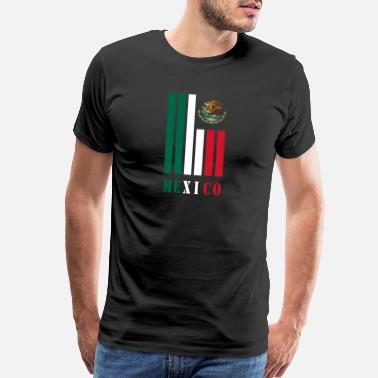 Spanish Mexico beams with national colors / Gift - Men's Premium T-Shirt