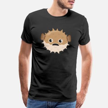 Puffer Fish Puffer Fish Bubble Fish Grumpy Funny Gift Idea - Men's Premium T-Shirt