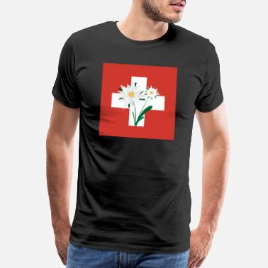 Alpine Club Edelweiss Switzerland Funny Gift Idea - Men's Premium T-Shirt