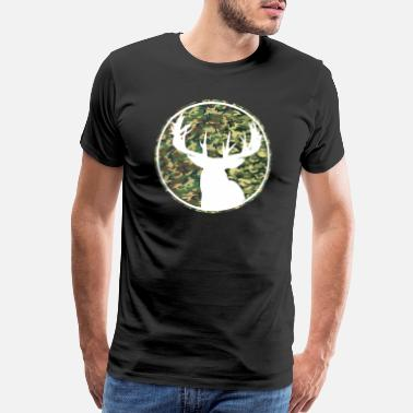 Fawn Deer Hunting Camouflage Patch 2 - Men's Premium T-Shirt