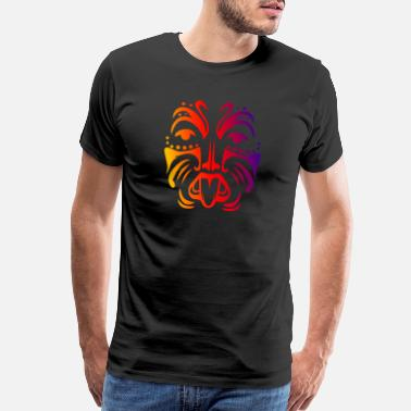 Maori Maori Warrior Face Polynesian Tribal Tattoo Gift - Men's Premium T-Shirt