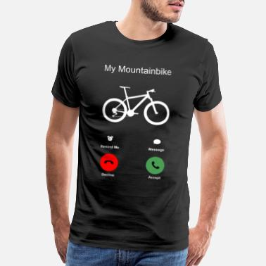 Bicycle Mountain Bike T-Shirt Present Birthday Gift Idea - Men's Premium T-Shirt