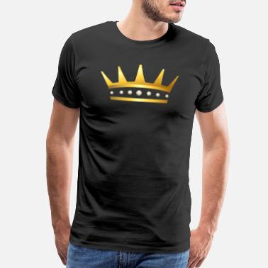 Jeweled King golden crown gold vip jewelry jewel fun image - Men's Premium T-Shirt