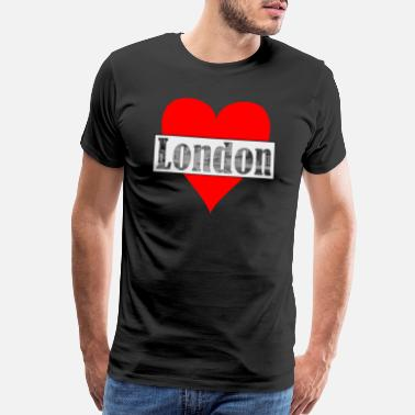 Cosmopolitan City Heart London! Gift, cosmopolitan city, England - Men's Premium T-Shirt