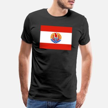Polynesia French Polynesia Flag - Men's Premium T-Shirt