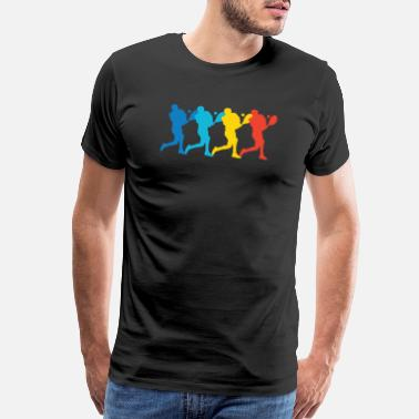 Tennis Art Retro Tennis Pop Art - Men's Premium T-Shirt