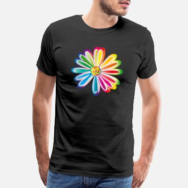 Oracle Colorful rainbow Daisy flower - Men's Premium T-Shirt