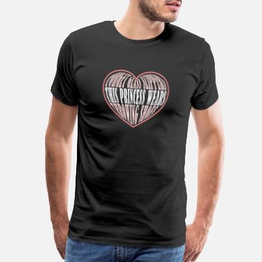 Triathlon Heartbeat Track and Field Heart Hobby Princess Shoes Gift - Men's Premium T-Shirt