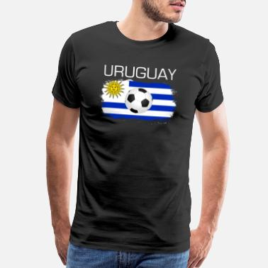 Uruguay Football Soccer Uruguay Fan Flag Gift - Men's Premium T-Shirt