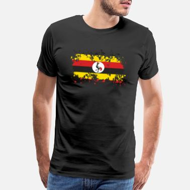 Enjoi Uganda flag ink - Men's Premium T-Shirt