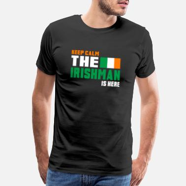 Flags Country Music Keep Calm Ireland / Gift National Colors - Men's Premium T-Shirt