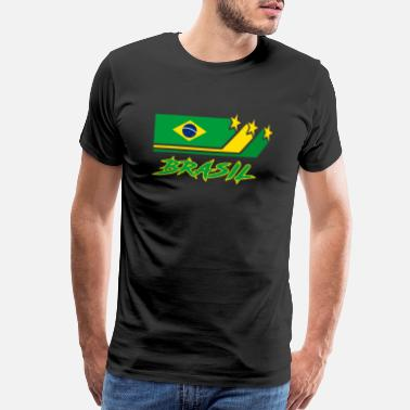 Paulo Brazil Flags Design / Gift National Sao Paulo - Men's Premium T-Shirt