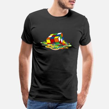 Melting Sheldon Melting cube - Men's Premium T-Shirt
