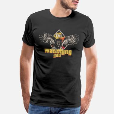 Wild-eagle Owl Predator Bird Gift Idea - Men's Premium T-Shirt