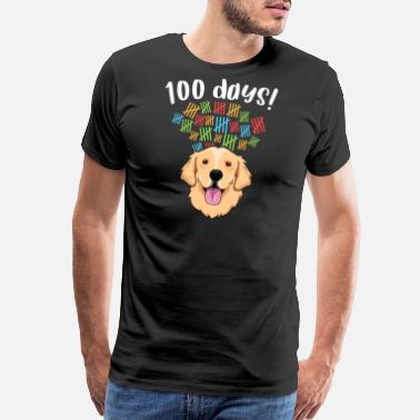 Teacher Dog 100 Days of School Costume TShirt Boy Girl Dog - Men's Premium T-Shirt