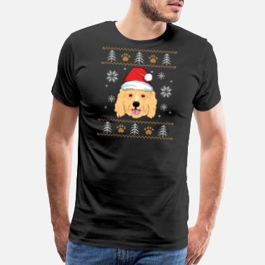 Ugly Dogs Christmas Ugly Goldendoodle Christmas TShirt Doodle Dog - Men's Premium T-Shirt