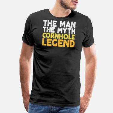 Drinking Game The Man The Myth The Cornhole Legend TShirt Bean - Men's Premium T-Shirt