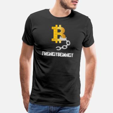 Digital Bitcoin BTC - Freedom Unit - Men's Premium T-Shirt