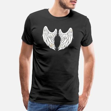 Angel Wings With Halo Angel - Wings - Spiritual Heaven Light Halo - Men's Premium T-Shirt