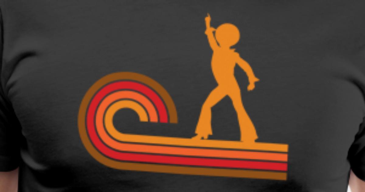 a6fe4c10f Retro Style Disco Dancer Silhouette Disco Men's Premium T-Shirt |  Spreadshirt