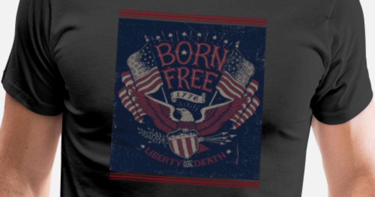 Born Free 1776 Men's Premium T-Shirt | Spreadshirt