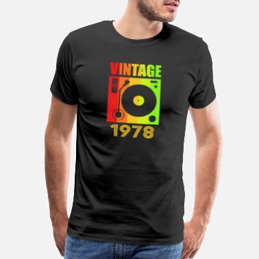 1978 Aged To Vintage 1978 Retro 40th Birthday 70s Gift Idea - Men's Premium T-Shirt