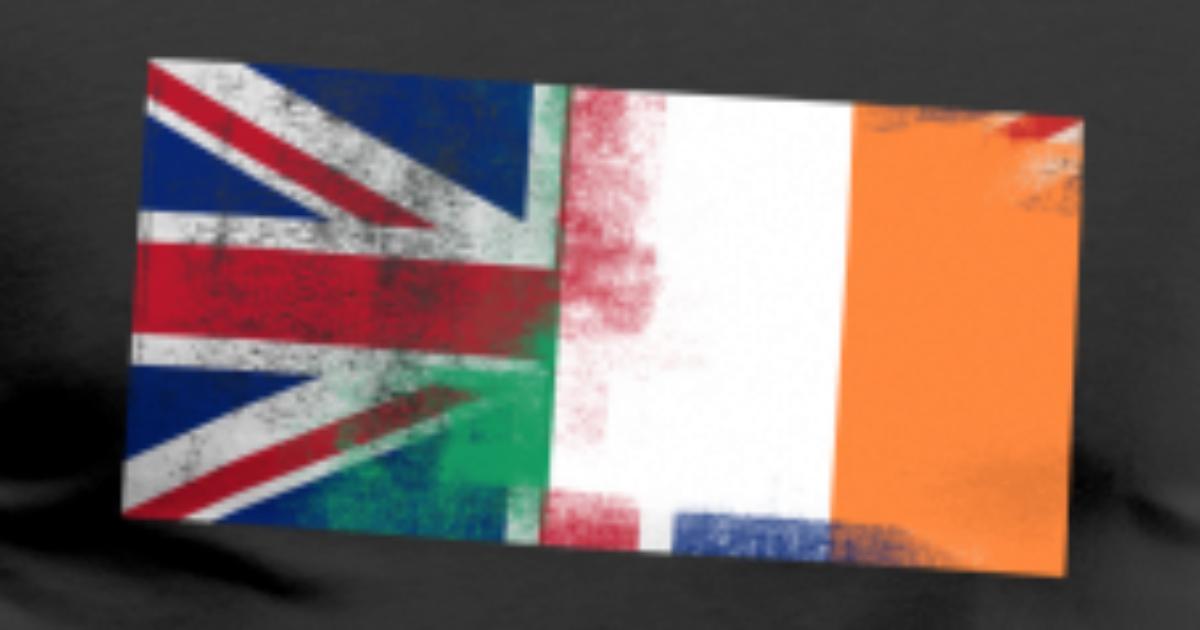 British Irish Half Ireland Half Uk Flag Men S Premium T