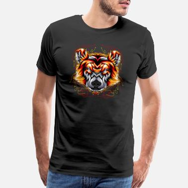 Head bear angry face head - Men's Premium T-Shirt