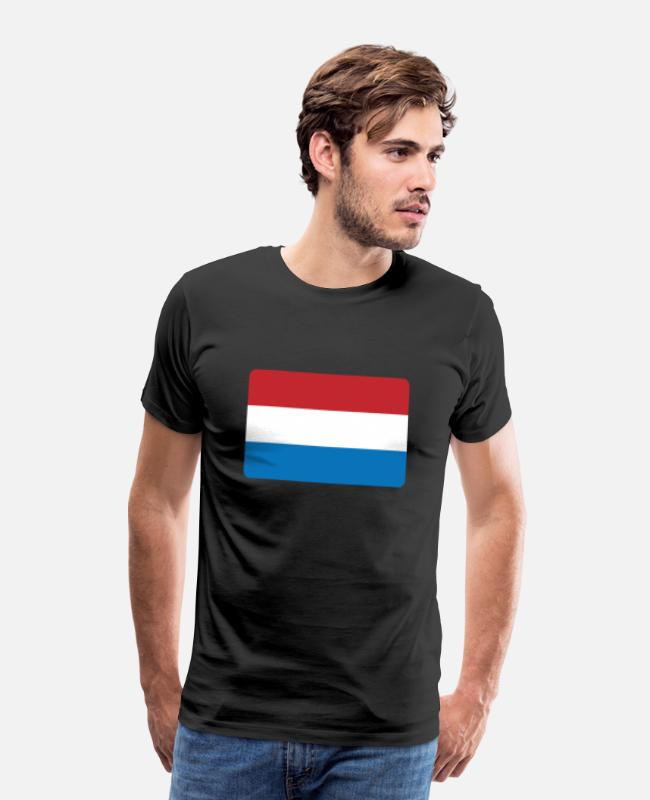 THE NETHERLANDS T-Shirts - THE NETHERLANDS - Men's Premium T-Shirt black