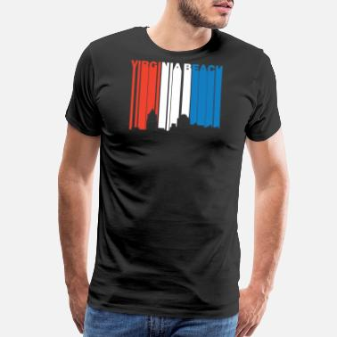 Red Beach Red White Blue Virginia Beach Virginia Skyline - Men's Premium T-Shirt