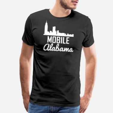 Mobile Alabama Mobile Alabama Skyline - Men's Premium T-Shirt