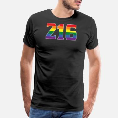 Cleveland Pride Apparel Gay Pride 216 Cleveland Area Code - Men's Premium T-Shirt