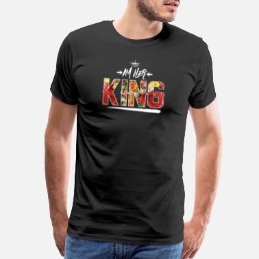 Queen Loves Her King I'm her King - Men's Premium T-Shirt