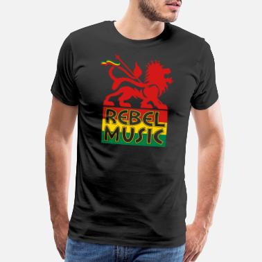 Rasta Rebel Music - Men's Premium T-Shirt