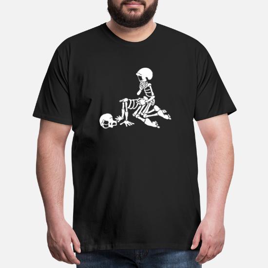 15d5be39e279 sex love and skeleton Men's Premium T-Shirt | Spreadshirt