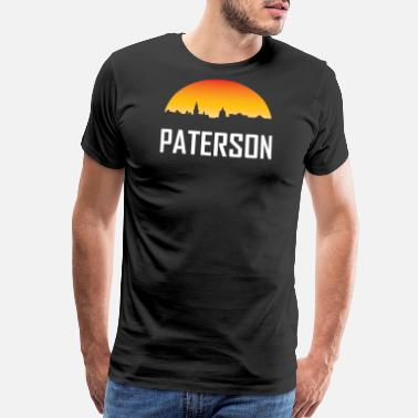 Paterson Paterson New Jersey Sunset Skyline - Men's Premium T-Shirt