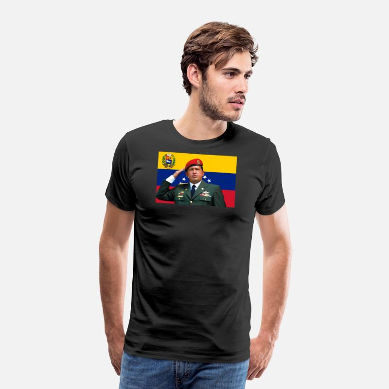Venezuela T-Shirts - Hugo Chavez - Men's Premium T-Shirt black