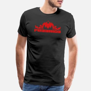 Freerider Mountain Bike Freeride - Men's Premium T-Shirt