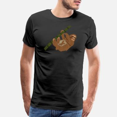 Funny Baby Funny Sloth Pregnancy Baby - Men's Premium T-Shirt