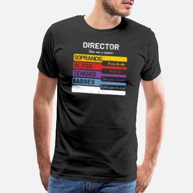 Soprano Funny Choir Director T-Shirt - Soprano Alto Tenor - Men's Premium T-Shirt