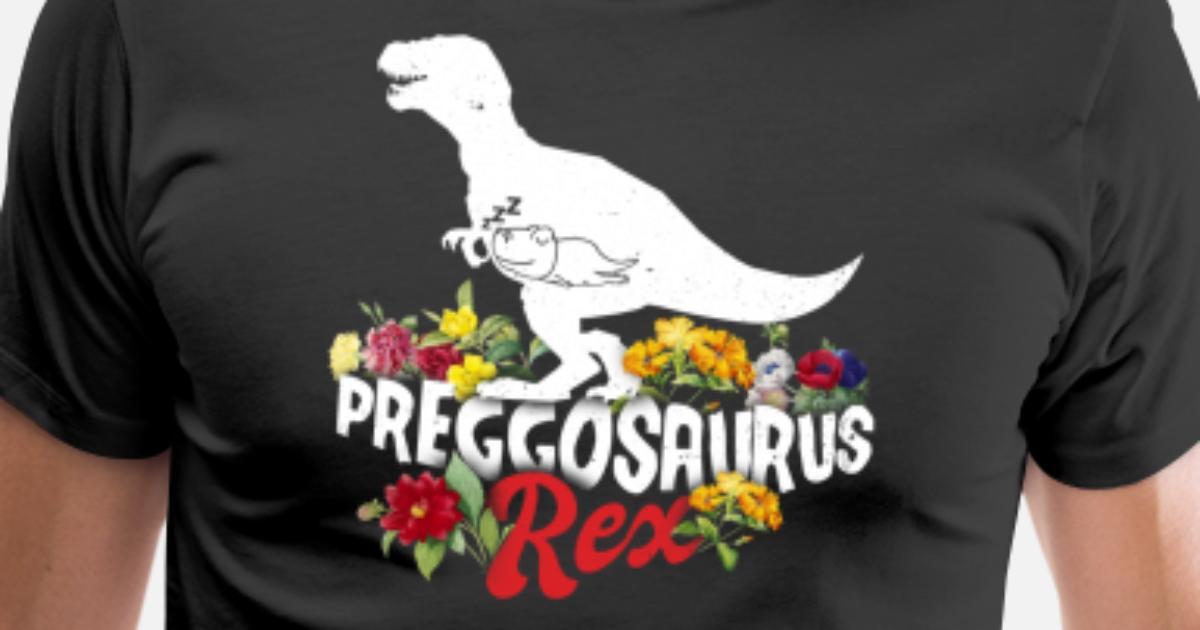 e4f9532bd8e33 Preggosaurus Rex Womens Pregnancy Graphic Funny T- Men's Premium T-Shirt |  Spreadshirt