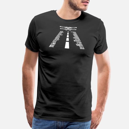 fec49bef26c Men's Premium T-ShirtPhonetic Alphabet T-Shirt Cool Pilot Airplane Tee