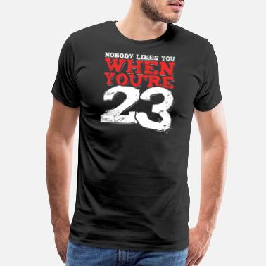 Candle Celebration 23 Years 23rd Birthday Gift - Men's Premium T-Shirt