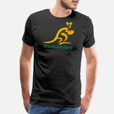 Wallabies Wallabies Gold Logo - Men's Premium T-Shirt