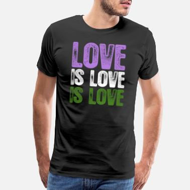 Love Is Love Pride Genderqueer Pride Love is Love is Love - Men's Premium T-Shirt