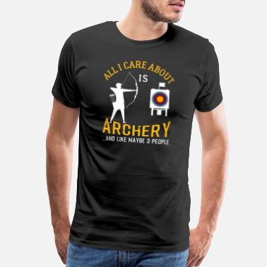 Shoot Slogan Archery And Beer Funny Gift - Men's Premium T-Shirt