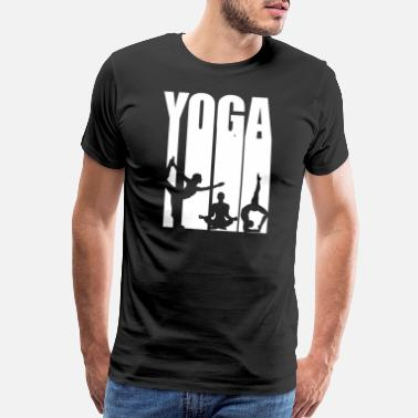 Yoga Silhouette Yoga Silhouette Sport Workout Fitness - Men's Premium T-Shirt